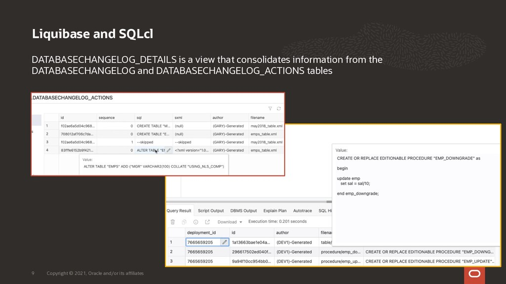 Liquibase and SQLcl Copyright © 2021, Oracle an...