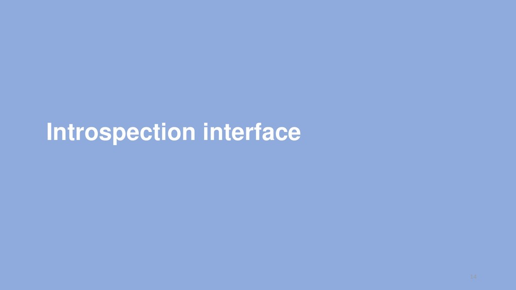 Introspection interface 14
