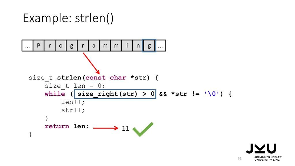 size_t strlen(const char *str) { size_t len = 0...