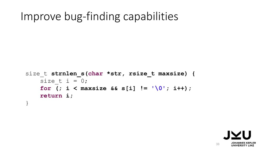 Improve bug-finding capabilities 33 size_t strn...