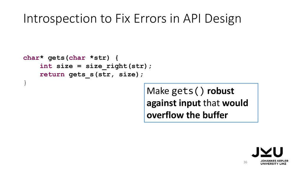 Introspection to Fix Errors in API Design 36 Ma...
