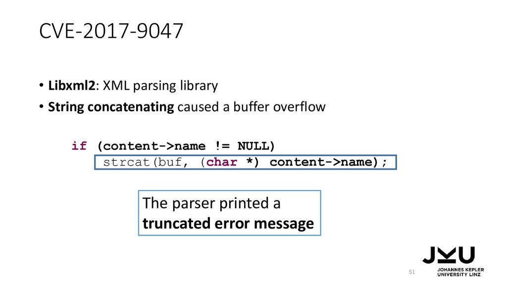CVE-2017-9047 • Libxml2: XML parsing library • ...