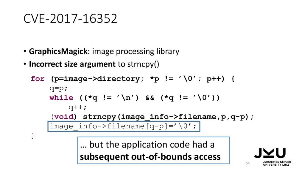 CVE-2017-16352 • GraphicsMagick: image processi...