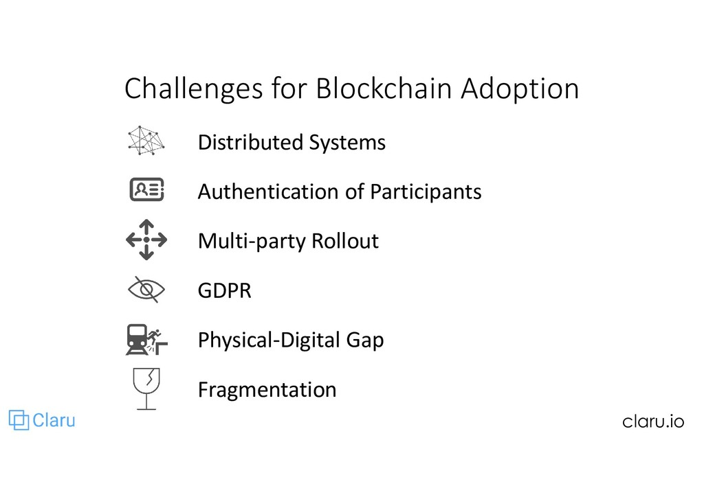 Challenges for Blockchain Adoption Distributed ...