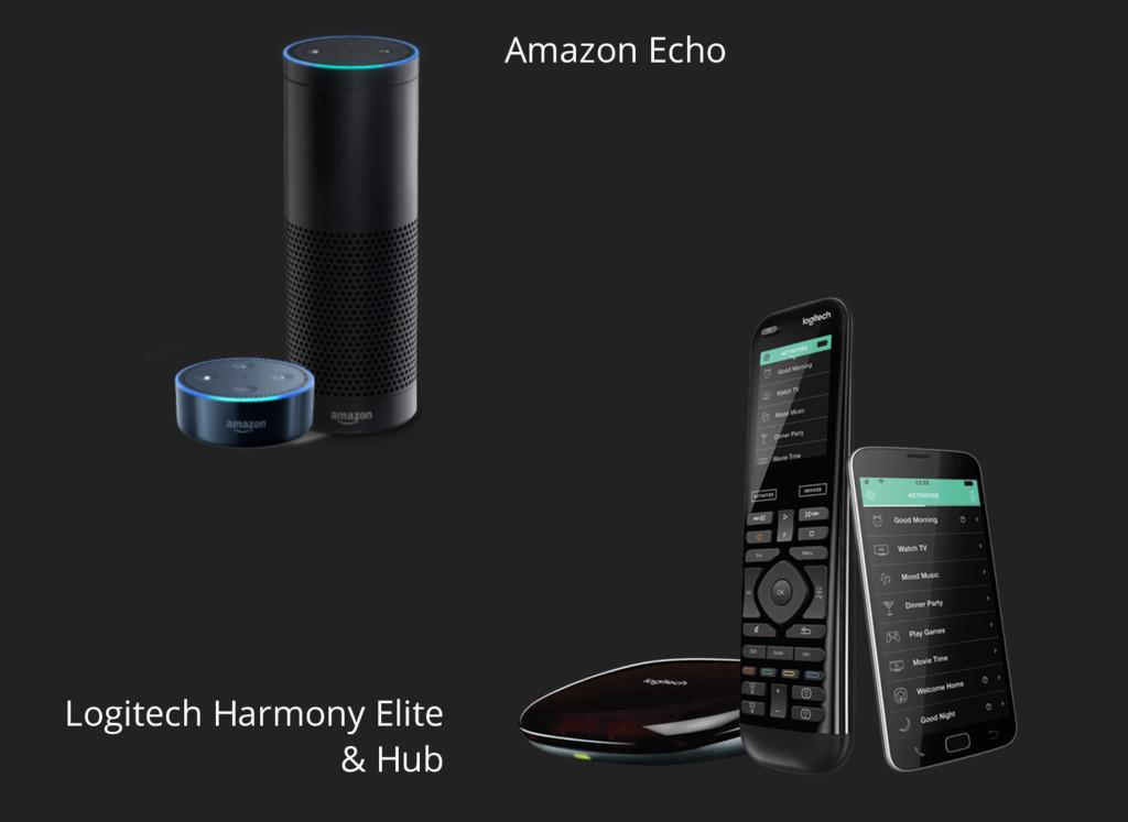 Amazon Echo Logitech Harmony Elite & Hub