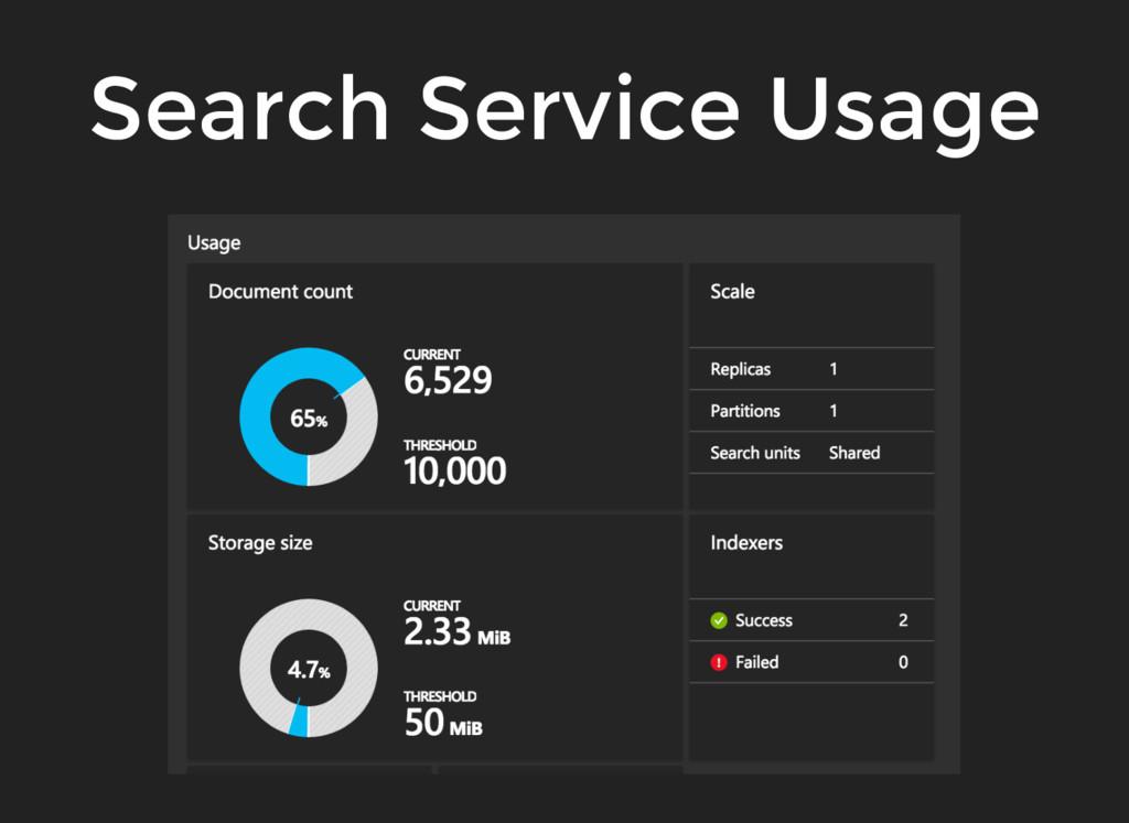 Search Service Usage