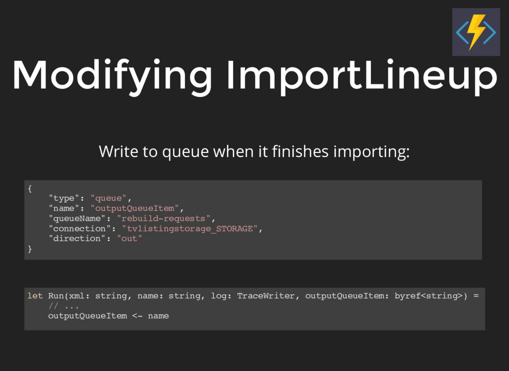 "Modifying ImportLineup { ""type"": ""queue"", ""name..."