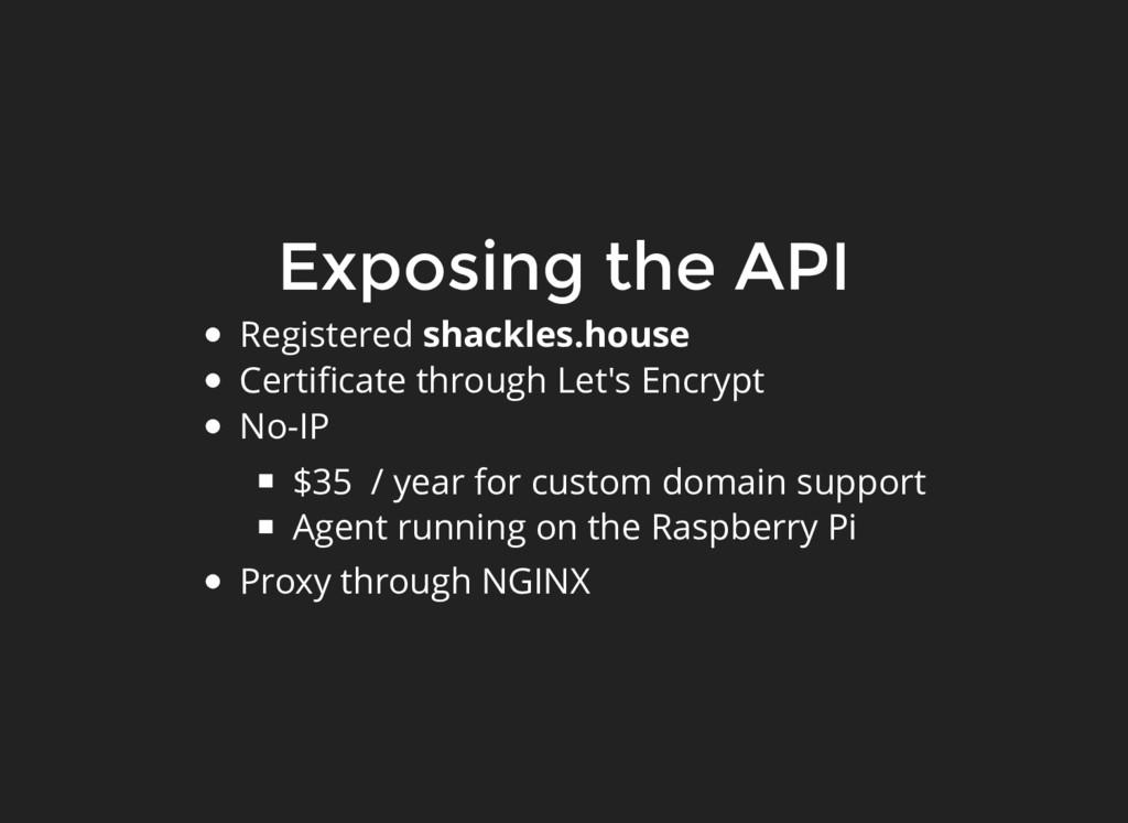 Exposing the API Registered shackles.house Cert...