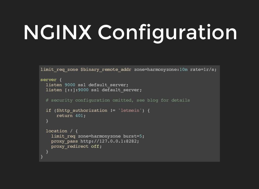 NGINX Configuration limit_req_zone $binary_remo...