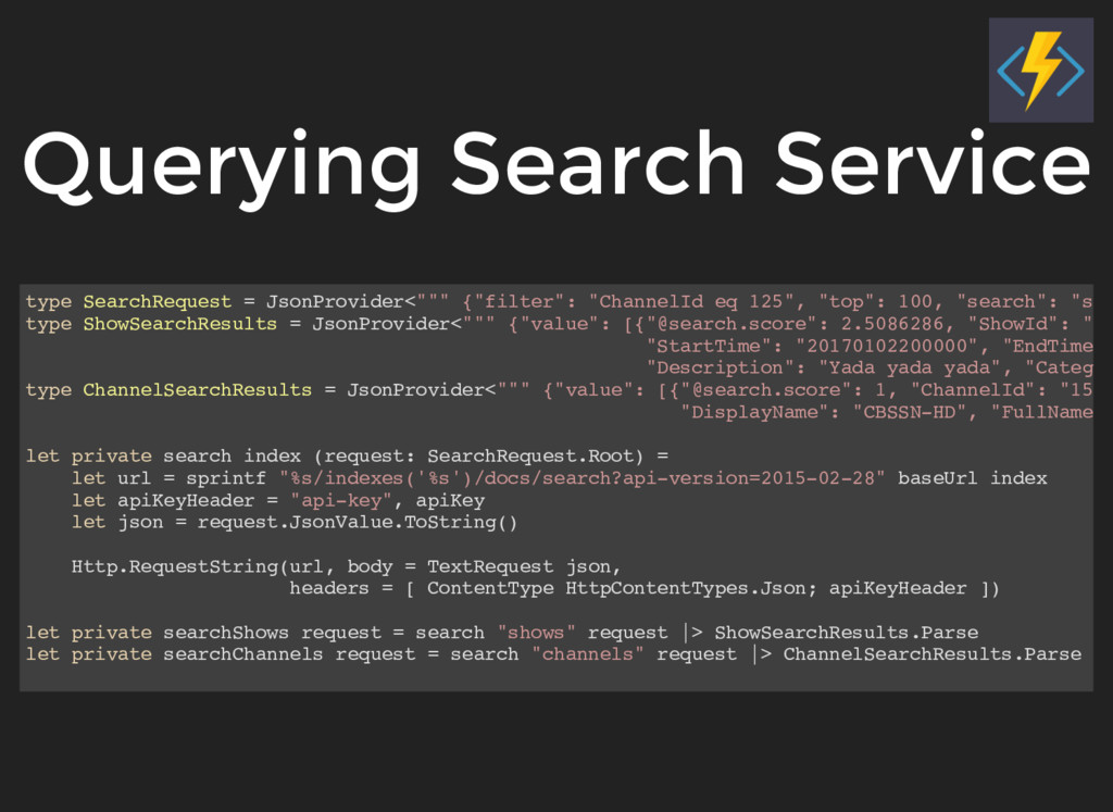 Querying Search Service type SearchRequest = Js...