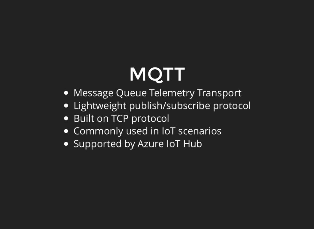 MQTT Message Queue Telemetry Transport Lightwei...