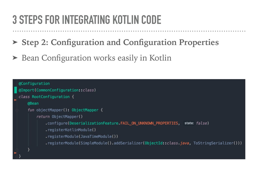 3 STEPS FOR INTEGRATING KOTLIN CODE ➤ Step 2: C...