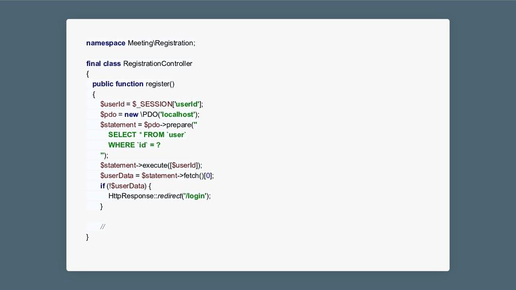 namespace Meeting\Registration; final class Reg...