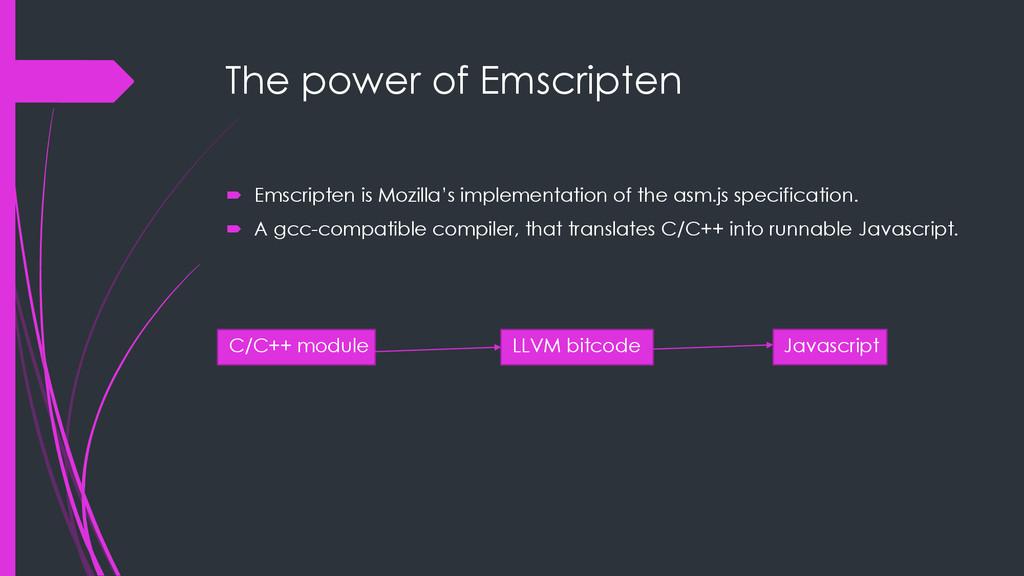 The power of Emscripten  Emscripten is Mozilla...