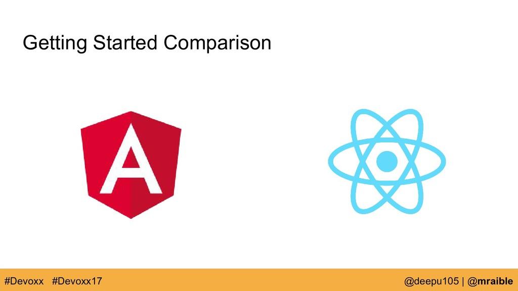 Getting Started Comparison #Devoxx @deepu105   ...