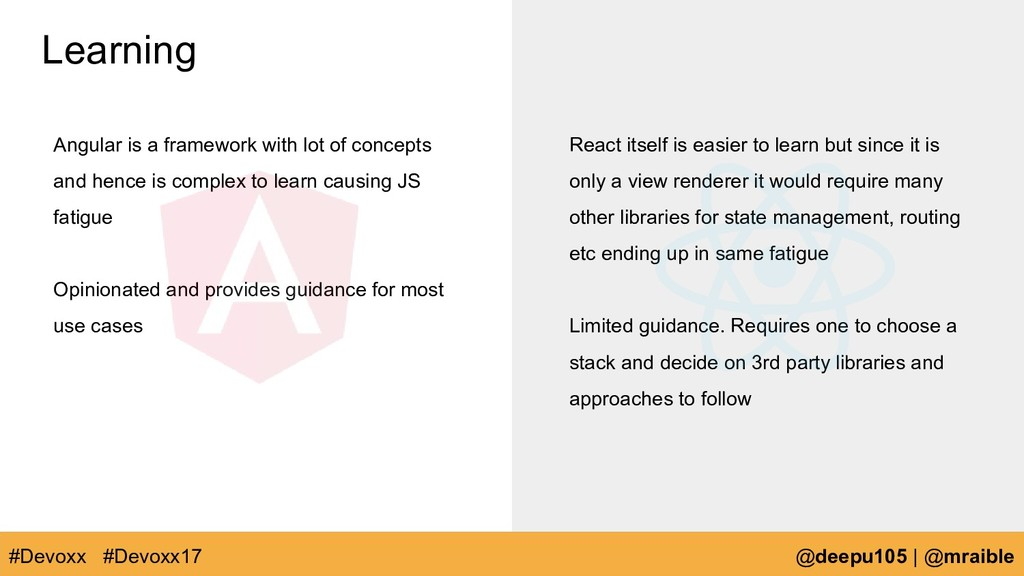 Learning Angular is a framework with lot of con...