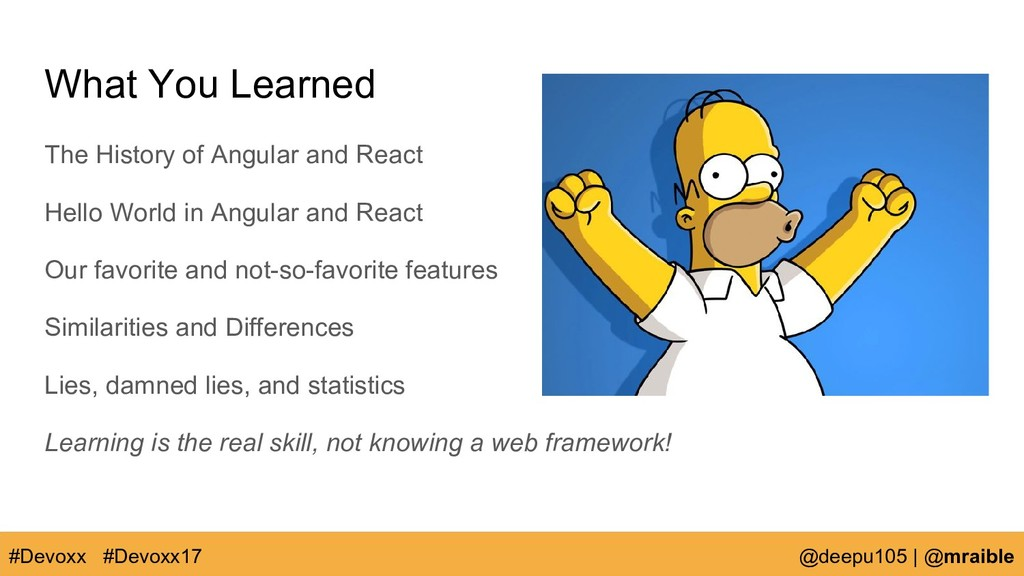 What You Learned The History of Angular and Rea...