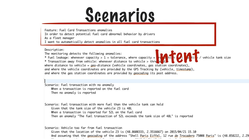 Scenarios Intent