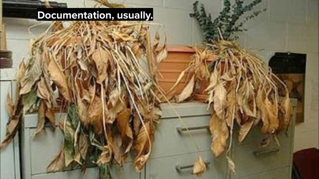 Documentation, usually.