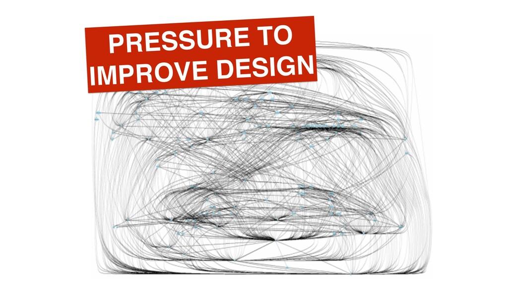 PRESSURE TO IMPROVE DESIGN