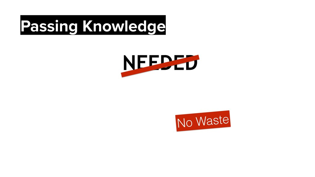 NEEDED No Waste Passing Knowledge