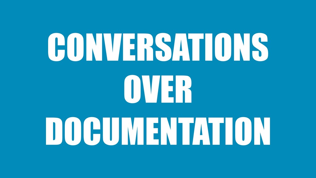 CONVERSATIONS OVER DOCUMENTATION
