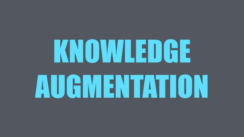 KNOWLEDGE AUGMENTATION