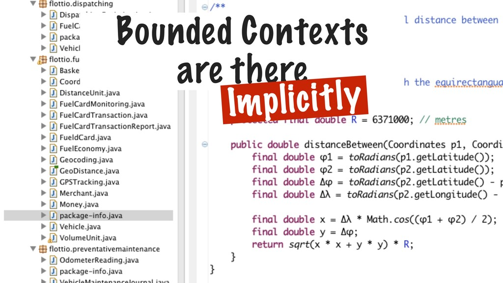 Bounded Contexts are there Implicitly