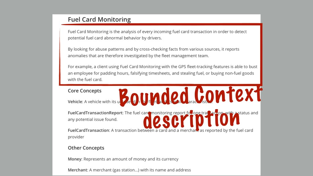 Bounded Context description