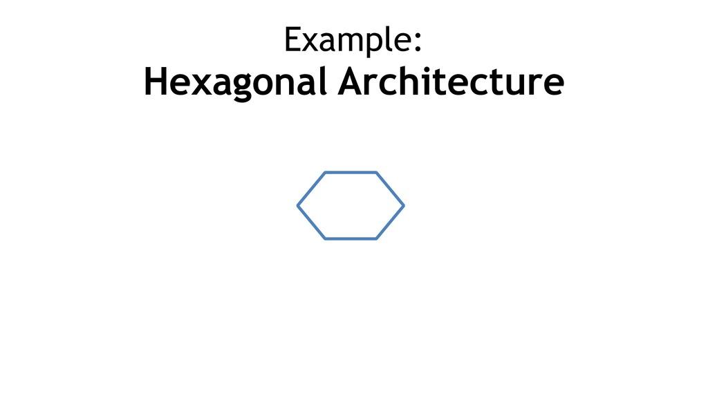 Example: Hexagonal Architecture
