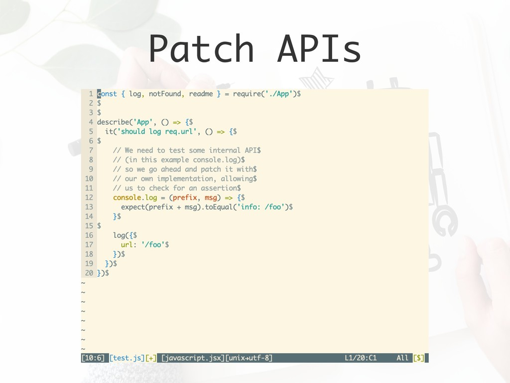 Patch APIs