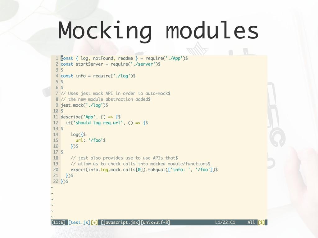 Mocking modules