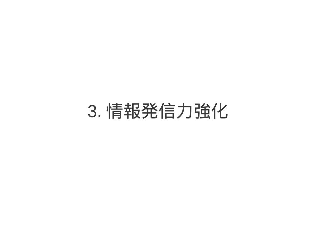 3. 情報発信力強化