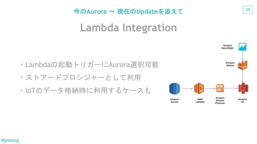 25 #jawsug Lambda Integration Lambda)Au...