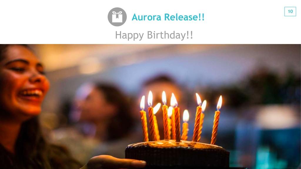 10 #jawsug Aurora Release!! Happy Birthday!!