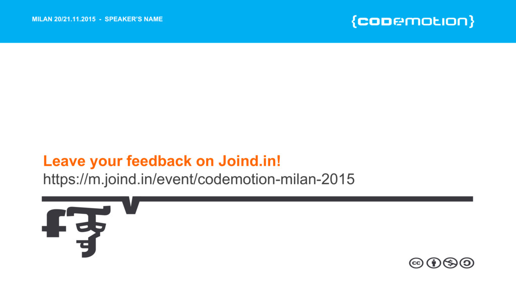 MILAN 20/21.11.2015 - SPEAKER'S NAME Leave your...