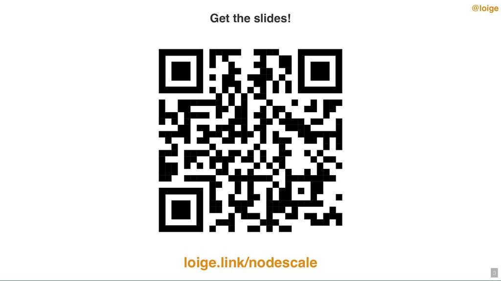 @loige Get the slides! loige.link/nodescale 3