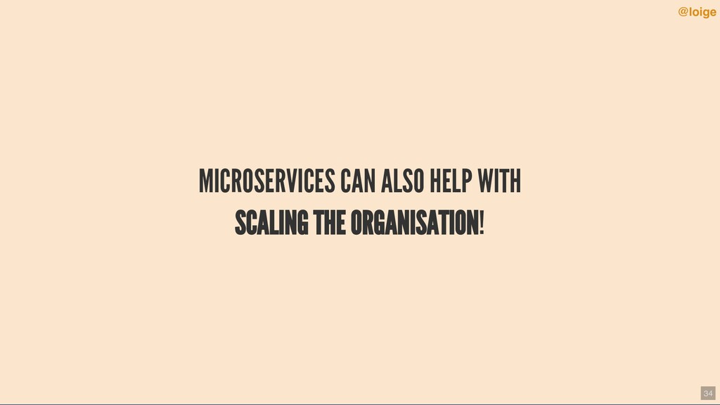 MICROSERVICES CAN ALSO HELP WITH SCALING THE OR...