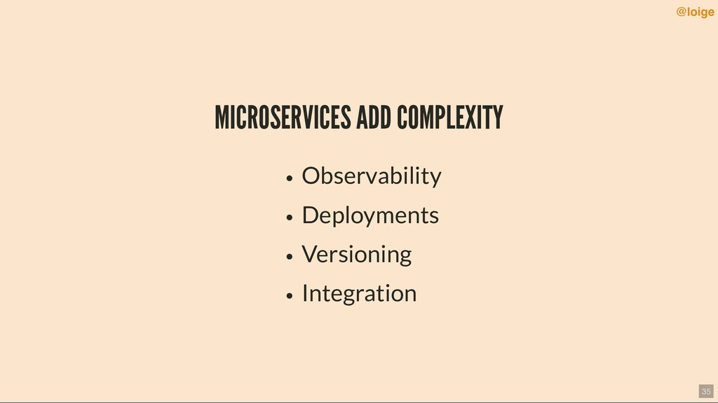 MICROSERVICES ADD COMPLEXITY Observability Depl...