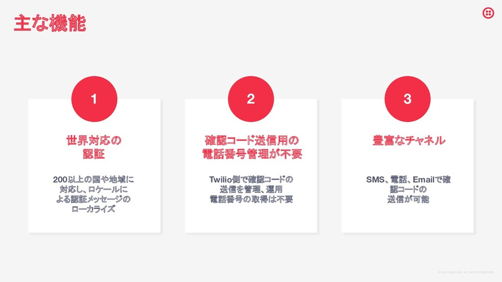 © 2020 TWILIO INC. ALL RIGHTS RESERVED. 世界対応の ...