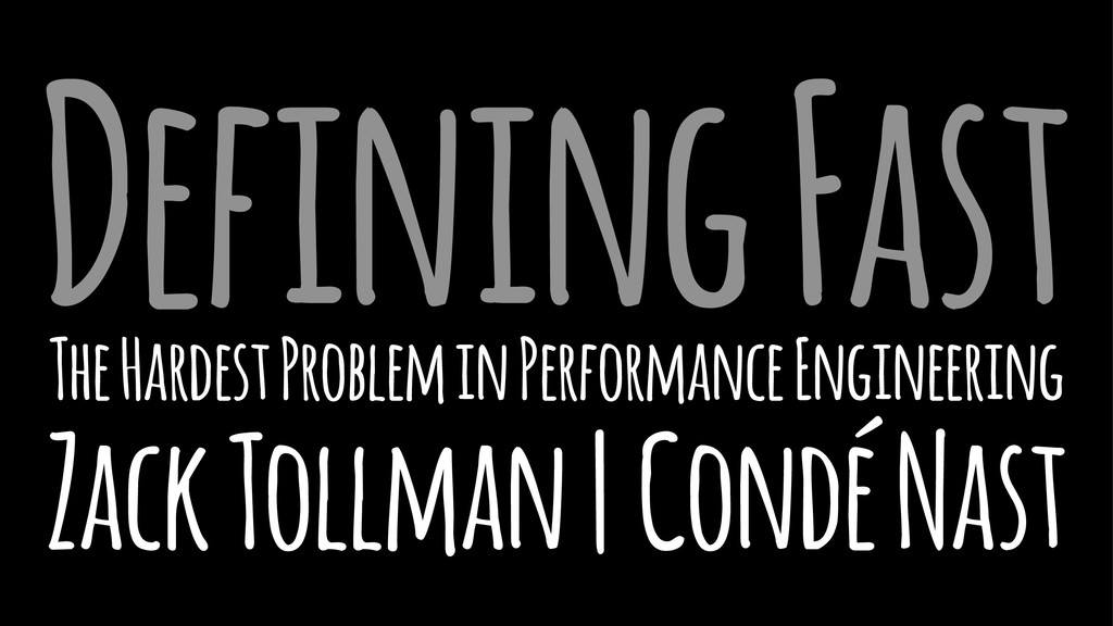 Defining Fast The Hardest Problem in Performanc...