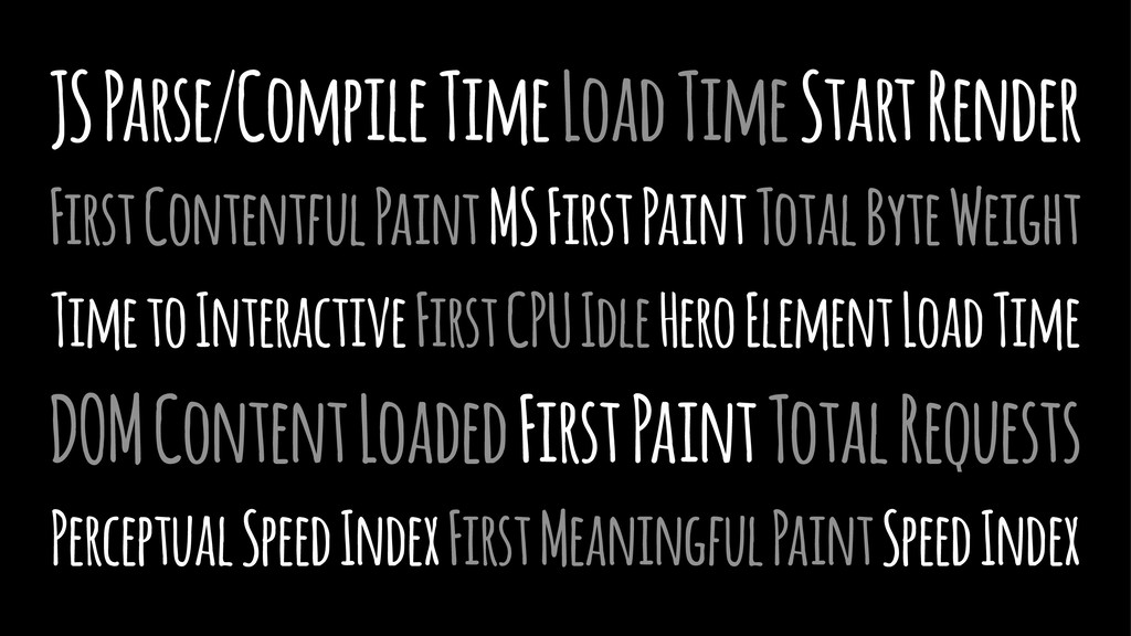 JS Parse/Compile Time Load Time Start Render Fi...