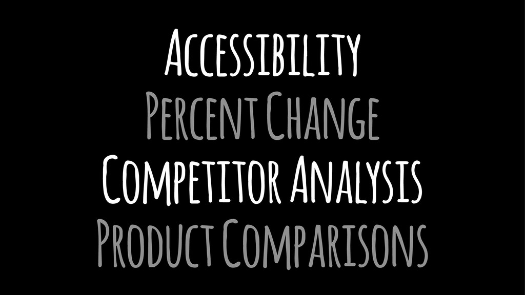 Accessibility Percent Change Competitor Analysi...