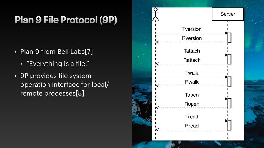 Plan 9 File Protocol (9P) • Plan 9 from Bell La...