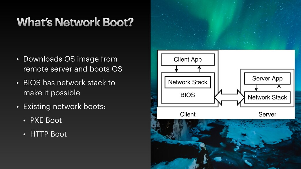 What's Network Boot? • Downloads OS image from ...
