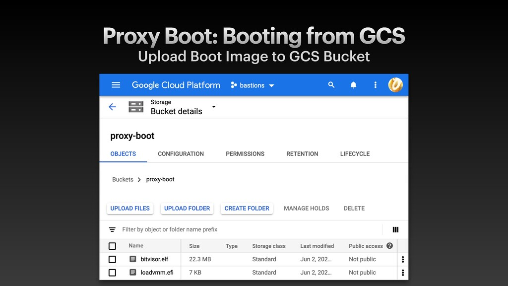 Proxy Boot: Booting from GCS Upload Boot Image ...