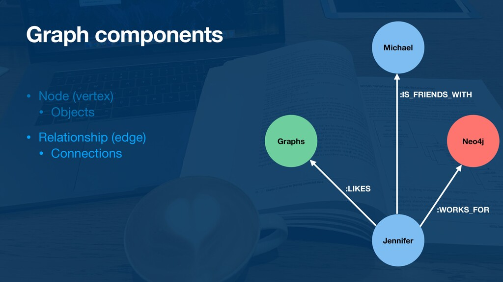 Graph components • Node (vertex)  • Objects  • ...