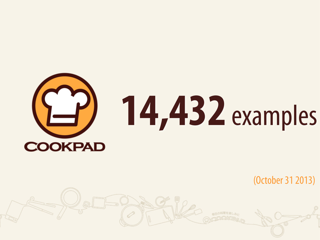 14,432 examples (October 31 2013)