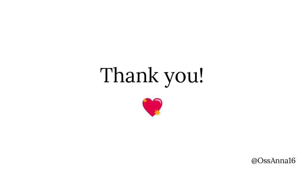 Thank you! @OssAnna16