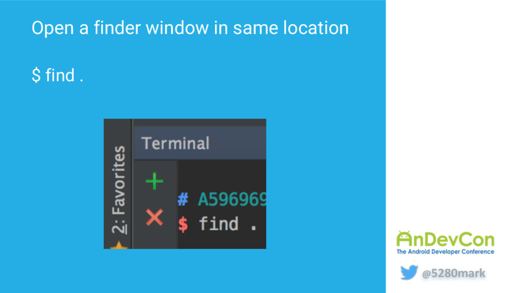 @5280mark Open a finder window in same location...